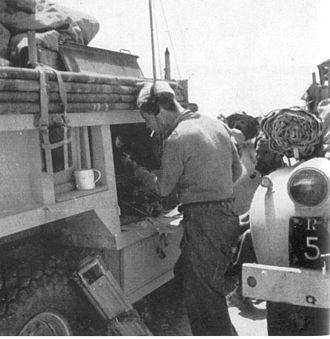 "Long Range Desert Group - The 'greedy boards' were used to extend the load height of the Godfredson 4B1 Steel ammunition body used on Chevrolet 1533X2s; the steel tubes used to secure the boards doubled as weapons mounts (see photo of ""T10"")."