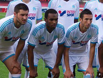 Rafidine Abdullah - Abdullah (centre) representing Marseille in 2013