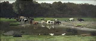 Cows at the watering place