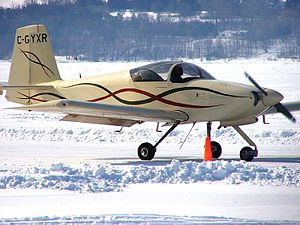 Van's Aircraft RV-9 - An RV-9A – the nose wheel equipped version of the RV-9 at an ice strip fly-in near Ottawa, Ontario 2005