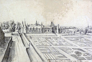 Château de Cheverny - View of the Maison de Cheverny in 1624 by Étienne Martellange