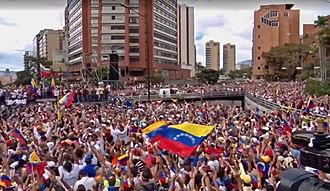 2019 Venezuelan protests - Image: Venezuelan protests 23 January 2019