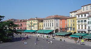 Verona Italy Piazza Bra from arena DSC08039