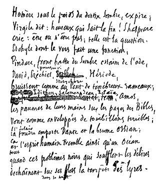 Toute la Lyre - Toute la Lyre part of manuscript