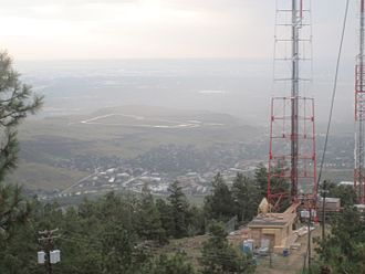 Lookout Mountain (Colorado) - Eastern view from radio towers at Lookout Mountain