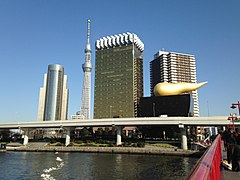 View of Azumabashi, Sumida from Azumabashi Bridge.JPG