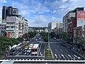 View of Fuguo Road in Shilin on a MRT Train approaching Zhishan Station.jpg