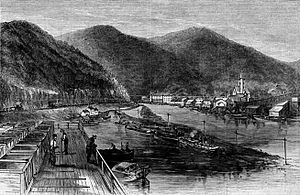 Jim Thorpe, Pennsylvania - View of Mauch Chunk in 1869