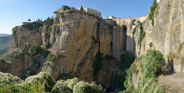 """:View of Puente Nuevo bridge on the """"El Tajo"""" in Ronda Spain"""
