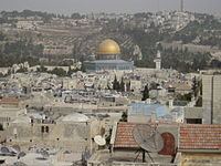 View of Temple Mount from wall - panoramio.jpg