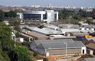 Agricultural Research Organization, Volcani Center - Aerial view of part of the Volcani campus