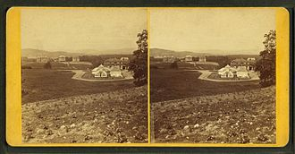 William S. Clark - Stereograph view of the campus of MAC c. 1875