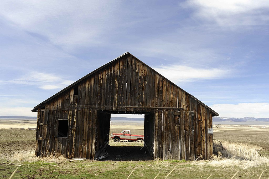 Old Barn With Classic Cars