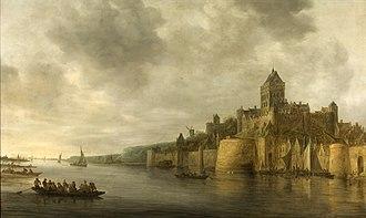 Nijmegen - The Waal river near Nijmegen, 1641.