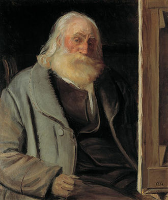 Vilhelm Kyhn - Vilhelm Kyhn portrayed by his pupil Anna Ancher shortly before his death in 1903