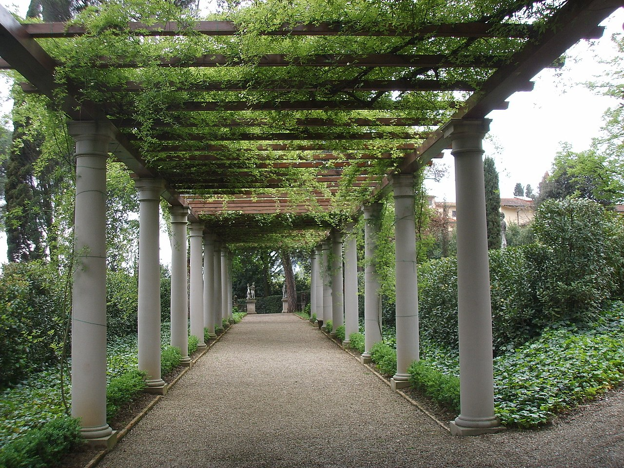 File villa la pietra giardino est pergolato jpg wikipedia - Pergola giardino ...