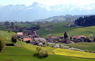 Wald, Bern - Image: Village of Englisberg, south eastern view towards the Gantrisch
