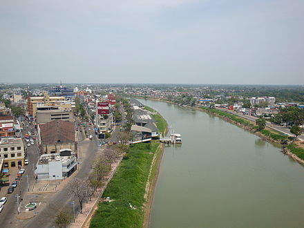 Grijalva River flowing through Villahermosa Villahermosa Panoramica 3.jpg