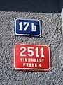 Vinohrady, Bělehradská 17b, čísla.jpg