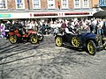Vintage cars navigating The Square - geograph.org.uk - 1251518.jpg