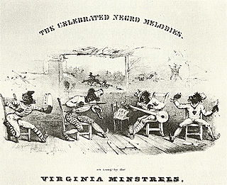 Minstrel show 19th-century American style of entertainment involving racist caricatures of black people