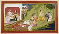 Visvamitra tells a story - Ramayana, Bala Kanda (1712), f.90 - BL Add MS 15295.jpg