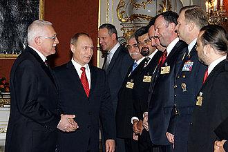 Václav Klaus - Vaclav Klaus and President Putin.
