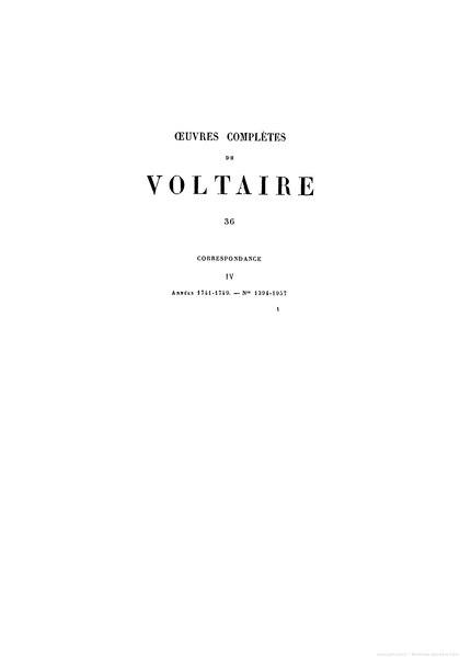 File:Voltaire - Œuvres complètes Garnier tome36.djvu