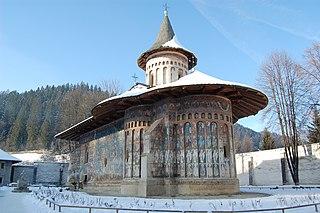 Voroneț Monastery heritage site in Suceava County, Romania