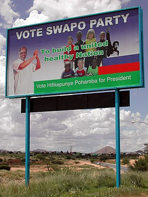 Namibian general election, 2004 - SWAPO election poster