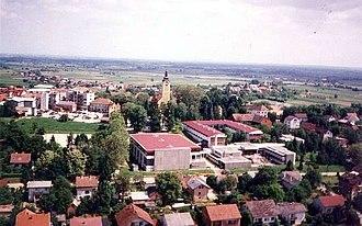 D26 road (Croatia) - Vrbovec, near the western terminus of the D26 road