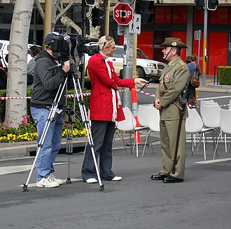 WIN Television - WIN News Riverina reporter, Erin Willing interviewing Major Jeff Cocks.