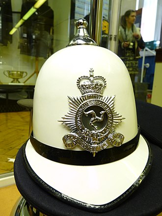 Isle of Man Constabulary - The distinctive white Isle of Man police helmet.