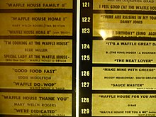 Wikipedia for Waffle house classic jukebox favorites
