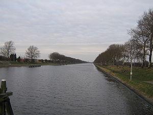 Canal through Walcheren - Looking toward Middelburg from a bridge at Souburg.