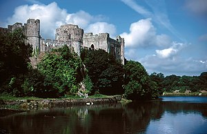 Siege of Pembroke - The north west side of Pembroke Castle