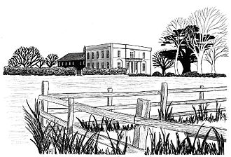 Distance education - Walton Hall, renovated in 1970 to act as the headquarters of the newly established Open University. (Artist: Hilary French)