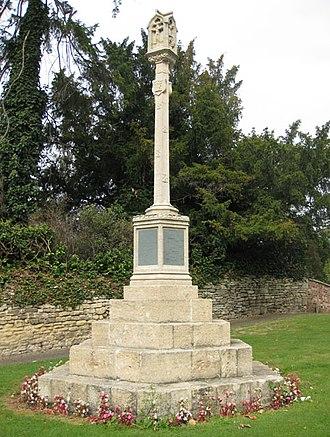 Prestbury, Gloucestershire - Image: War memorial, Prestbury geograph.org.uk 1507634