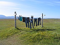 From en.wiki: Washing Line in Iceland. Taken b...