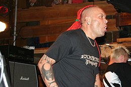 Wattie Buchan performing with the Exploited in 2006