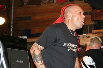 The Exploited - Wattie on stage in 2006.