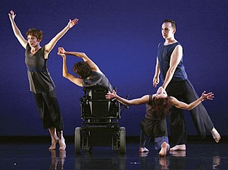 AXIS Dance Company - The AXIS Dance Company performs Waypoint by Margaret Jenkins. From left to right are dancers Margaret Cromwell, Bonnie Lewkowicz, Sonsherée Giles, and Sean McMahon.
