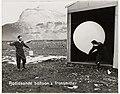 Weather personnel at Heard Island ANARE Station releasing free hydrogen Radiosonde Balloon (6433880227).jpg