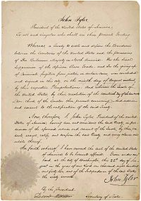 Webster-Ashburton Treaty ratification.jpg