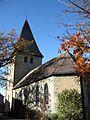 Werl, Hilbeck, Evangelische Kirche, Rückansicht in Richtung Turm.jpg