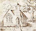 Wesley Chapel (Hopetown, Ohio) Black & White Drawing.jpg