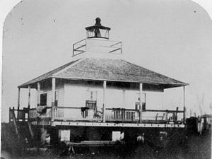 West Rigolets Light - West Rigolets Light in 1800s (USCG)