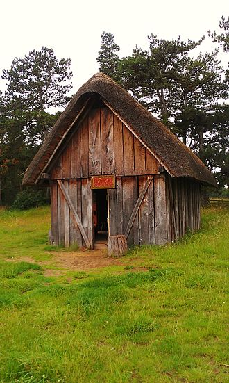 West Stow Anglo-Saxon Village - The reconstruction of the Hall, constructed in 2005.