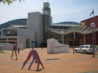 Royal Alexandra Hospital for Children - Hospital entrance