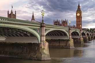 Westminster Bridge - Image: Westminster Bridge and Palace of Westminster